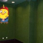 Kunstrasen Green Easy als Wandverkleidung