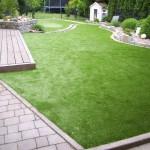 Kunstrasen Green Natural im Garten