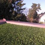 Kunstrasen auf Pultdach