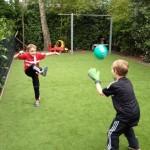 Kundenfoto: Kunstrasen für private Fußballfläche