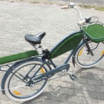 Electra Bycicle mit Kunstrasen