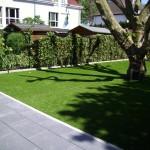 Garten nachher mit Kunstrasen Green Paradise